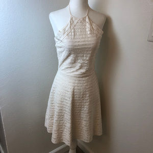 Parker  Ivory Halter Top Silk dress. Size Small